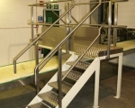Platforms and Gantries - stainless steel access platform