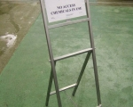Racking and Cages - mobile safety sign stand