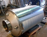 Storage Vessels - 2500l hygenic stainless steel bulk storage tank